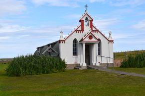 Italien chapel, byggt av krigsfångar under andra världskriget