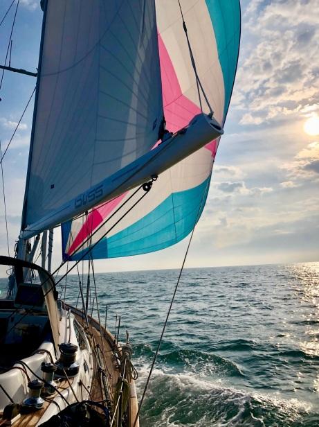 På väg över Nordsjön