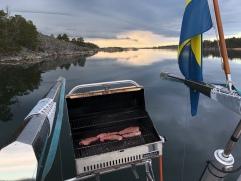 En stilla kväll i Skärvassaviken