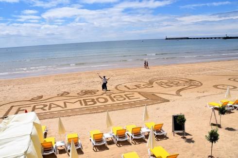 Strandkonst i Les Sables d´ Olonne