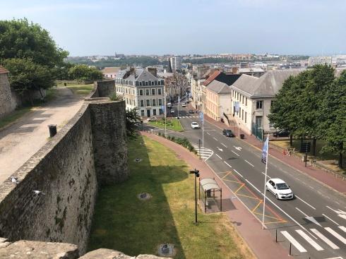 Utsikt från muren i Boulogne-sur-Mer