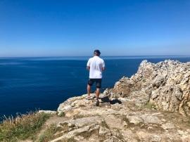 Häftig utsikt ut mot Atlanten