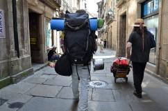 Pilgrim i Santiago de Compostela