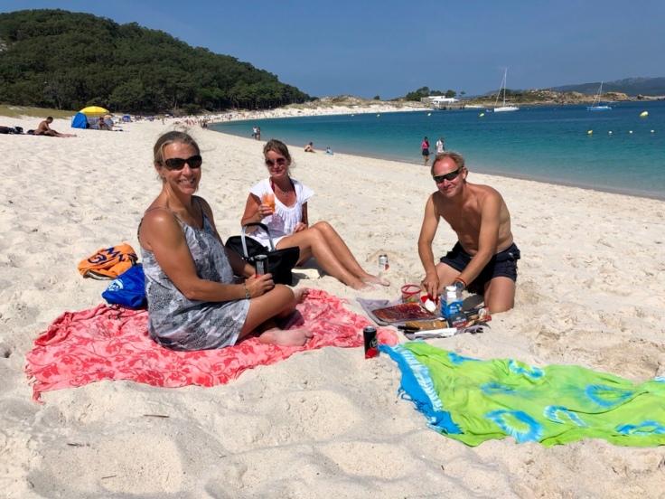 Strandhäng på Isla de Cies