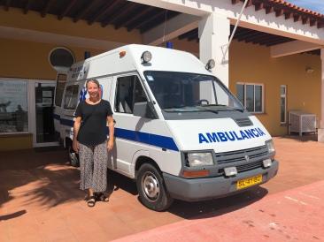 PåPå väg till ambulansflyget