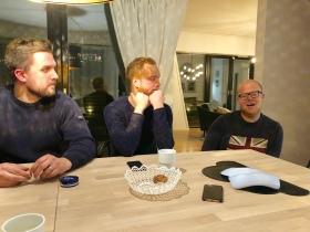 Robert, Fredrik och Johan