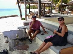 Strandbaren på Petit St Vincent