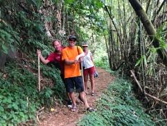 På väg mot seven sisters falls, Grenada