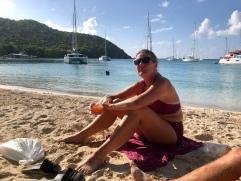 Anna på stranden