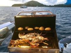 Vi grillar lobster