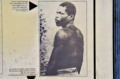 En av två överlevande vid vulkanutbrottet 1902