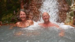 Vi badar i varm bäck