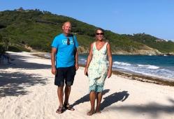 På stranden Mustique