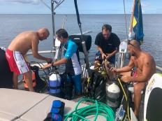 Vi förbereder dykning