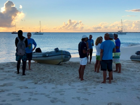 Sundowner på Barbuda