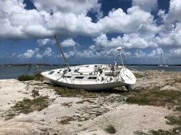 Vrak erfter orkanen Irma