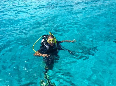 Dykning på gång