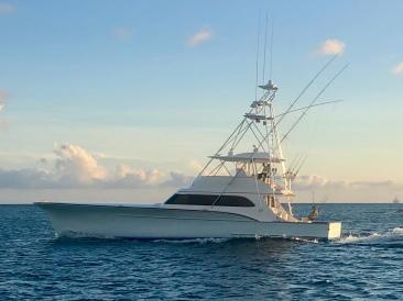 Privat fiskebåt på Aruba