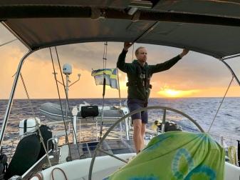 Soluppgång på havet